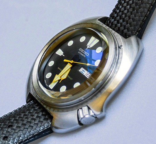 Modified Seiko 6105 with high dome sapphire