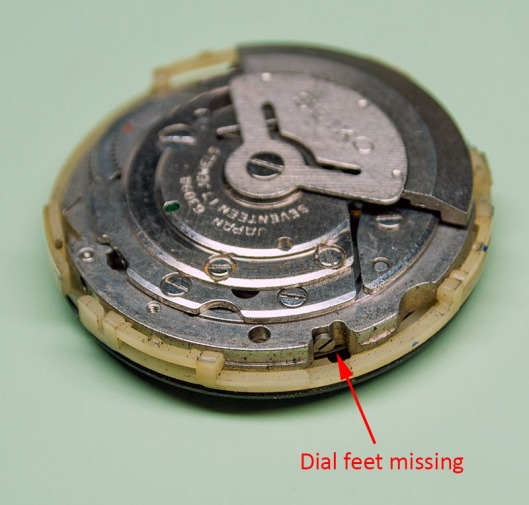 Dial glued to 6309