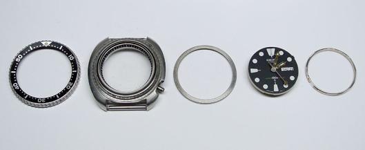 Seiko 6309-7040 case components