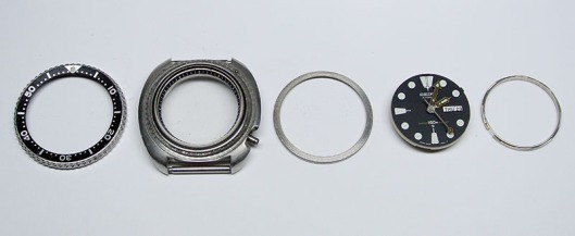Seiko 6309-7040 case components