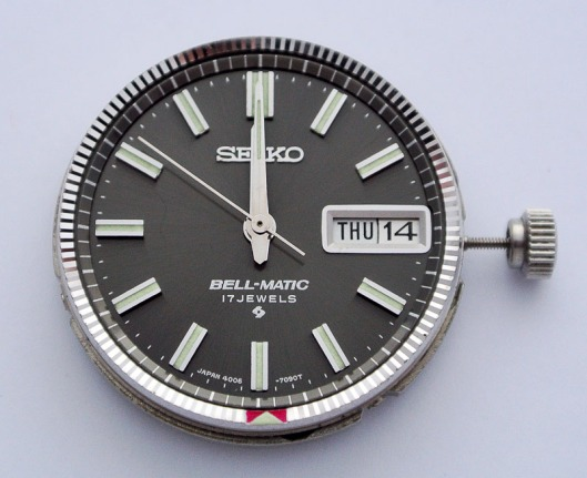 Bellmatic dial and alarm setting wheel