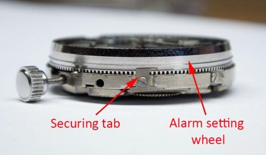Bellmatic alarm setting wheel tabs