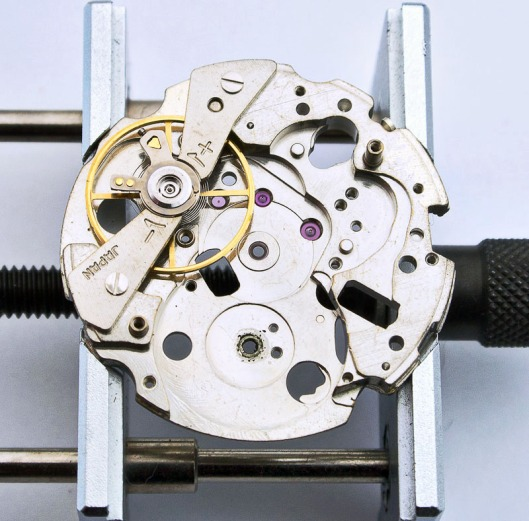 Seiko 6139 balance and main plate
