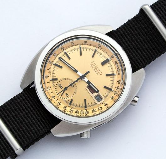 Seiko 6139-6015 gold dial