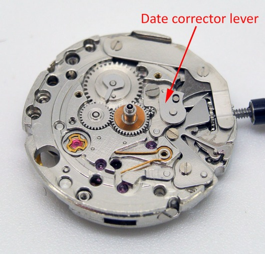 Date corrector lever
