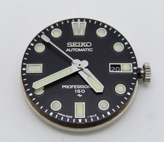Seiko 2205-0760 dial and hands