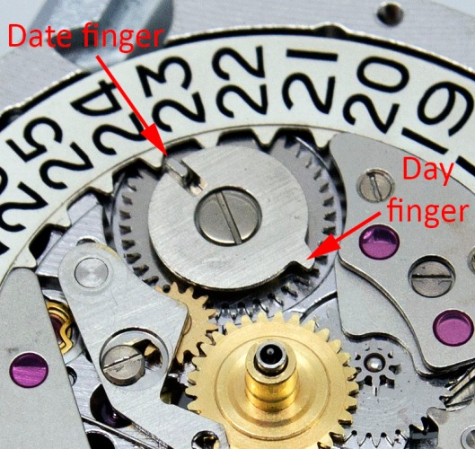 6218 day and date setting wheel