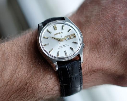 Seikomatic 6218 wrist