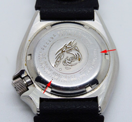 Seiko 7548 case back