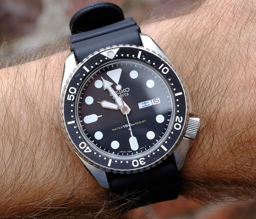 Seiko 7548 on the wrist