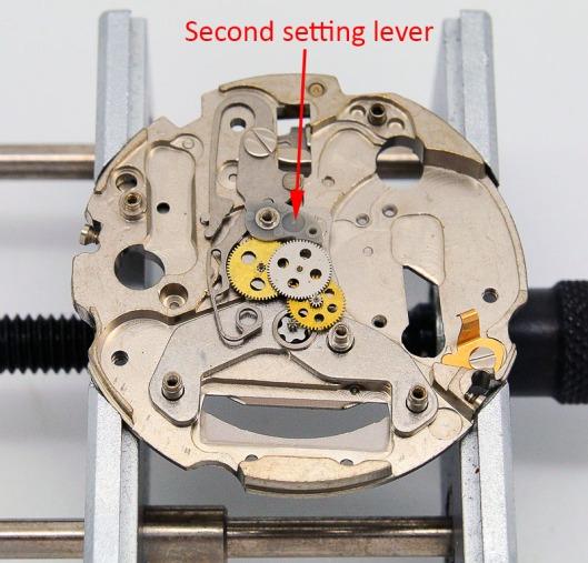 Seiko 7548 setting lever