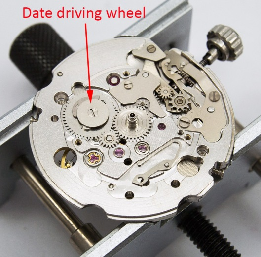 Date driving wheel