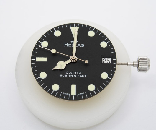 Hellas dial and hands