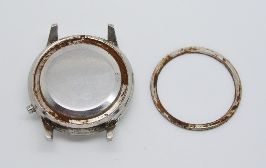 Caseback corrosion
