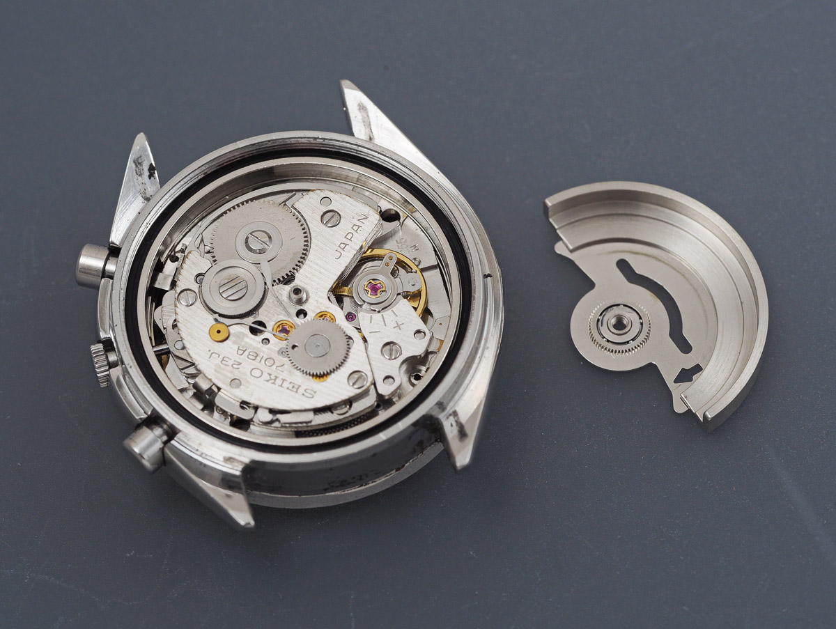 A Seiko 7018-7000 automatic fly-back chronograph from 1971