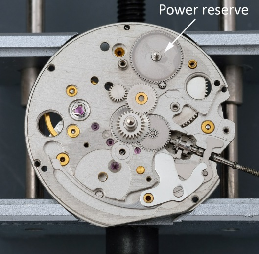 Power reserve function on Orient movement