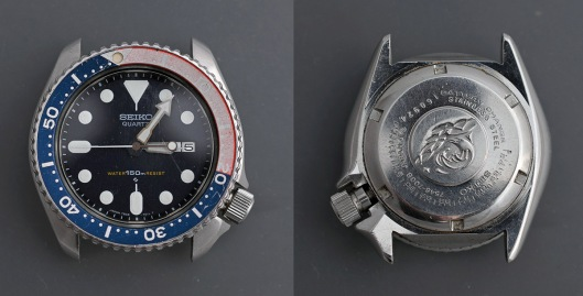 Front and back shots of a Seiko 7548-700B